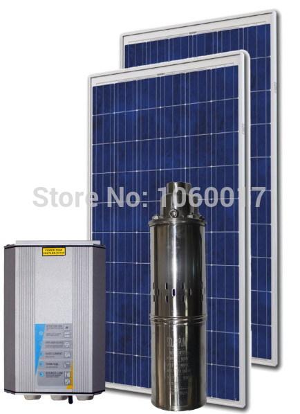 Eau solaire système de pompage 12 v, 24 v, 36 v, 72 Volt solaire DC pompe à eau / DC solaire hélicoïdal de rotor de pompe pour un usage domestique / 3ps0. 8 48 V 370 W(China (Mainland))
