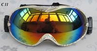 Fashion Eyewear free shipping Snowboarding Glasses snow/UV- Protection Multi-Color/ double anti-fog lens Skiing Goggle