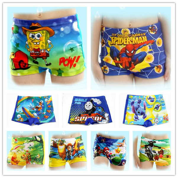 AliExpress.com Product - 2014 New Summer Trunks Cartoon Baby Kid Child Boy Swimming Spiderman cartoons Costume T04