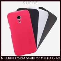 NILLKIN Super Shield Shell Hard Cover Case for MOTO G2, Moto G+1, XT1068, XT1069 + 10 pcs/lot Free Shipping