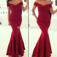 2014 European fashion evening bodycon dress mermaid long dress celebrity midi dress solid color
