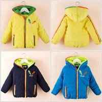 2014 children classic brand jacket boys cotton-padded faux fur coat girls Sweater Fleece hoodies baby outerwear winter clothing