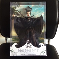 With original box ,Wholesale 34CM Maleficent Doll 12 movable joints Angelina Jolie Maleficent Toy Free Shipping