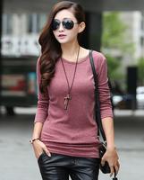 2014 New Fashion Free shipping Women Korean Hitz Loose Long-Sleeved T-Shirt With zipper Female Models Plus Size Ladies Blouse