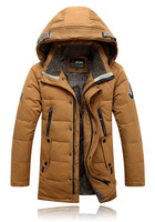 High Quality 2014 Winter New Men'S Brand Jackets Men'S Fashion Thick Hooded Down Jacket Men Long Paragraph  90% Down Coat b45