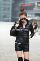 2014 Fashion Winter parka Female Down Jacket Women Clothing Winter Coat 15 Colors Overcoat Thin Women Jacket Thin Size XXXL