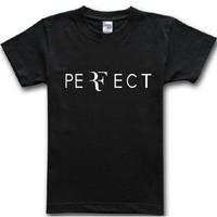 100% cotton Roger Federer t-shirt RF 2014 Tennis t-shirt men short sleeve t shirt high quality