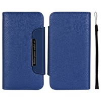 Hot High Quality 2 in 1 Separable Litchi Grain Case Magnetic Flip Cover Wallet Leather Case For iPhone 6 Plus 5.5 inch