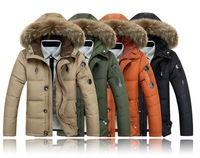 Free Shipping 2014 JP MENS WINTER Fur Collar DUCK DOWN Wear Sport Down jacket Coat Climbing Hiking JACKET WARM COAT HOODED