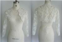 Bridal Shawl Wrap Wedding Jacket Bolero Transparent2014 Elegant Sexy Long Sleeve Lace See Through