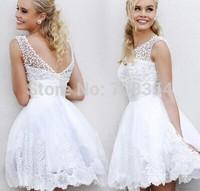 Elegant O-Neck Pearl Pleated Short Style Bridesmaid Dress/small wedding party dress 717