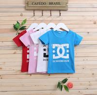 New Summer  Children's wear Girls Boys letter short sleeve T-shirt leisure kids t shirt tops tees 5pcs/lot