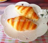 Artificial PU fake cream  croissant bread food  Kitchen restaurant decorated DIY wedding festival props toy