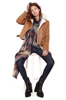 New winter collar Lapel cuff placket metal zipper is arranged Suede Jacket Vest haoduoyi
