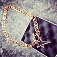 Hot Sale !!! fashion choker chain stars necklace