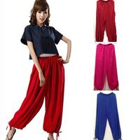 NEW FASHION men and women's casual wide leg pants,plus size sports trousers,yoga pants,cotton bloomers,dancing pants