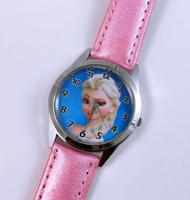 Free Shipping Princess Frozen Wrist Quartz Fashion Pink Leather Watch For Child Girl  Xmas YBX06