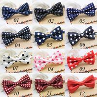 New Fashion Flower Dot Bow Tie Children's Ties Boys Tie Tide Baby Bow Tie Jacquard Children Ties Little Gentleman 2pcs/lot