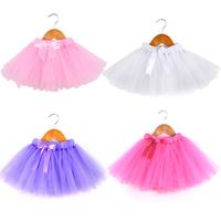2014 New Arrival Girls Tutu Shirts Saia Casual Style Kid Baby Tutu Skirt  Free Shipping 4 Colors  4 Sizes 2-8y