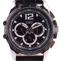 Winner mechanical watches Steel Case men Quartz watch imitation leather JARAGAR mechanical hand Wind wristwatches