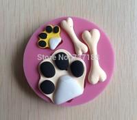 Strange Bone Shape  Fondant Cake Molds Tools Soap Chocolate Mould  Bakeware -C373