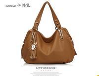 brand Europe and America women's shoulder bag vintage fashion tassel messenger bag three colors women's handbag