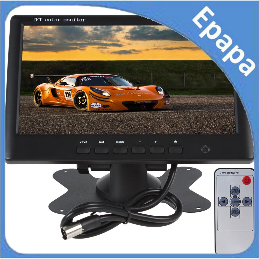 HD 800 x 480 Super Thin 7 Inch Car Monitor TFT Car lcd monitor Color LCD 2 Channels Video Input Car Rear View Monitor(China (Mainland))