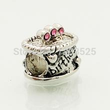 2014 Christmas birthday cake beads fit Pandora bracelets charm bracelets and jewelry accessories