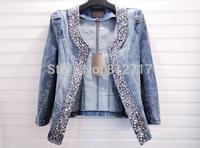 Spring G2014 women fashion top denim jackets outerwear female short korean jeans coats  large jackets for women S-XXL