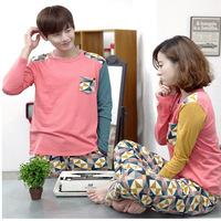 Spring Autumn Long Sleeve Men Women Couples Lovers Pajamas Casual Sleepwear Nightwear Pajama Home Clothing