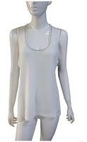 2014 Fashion T Shirt Women Summer Vest Metallic Neck Linen Plus Size Knitted Vintage Brand Tshirt Mesh Long T-Shirts For Women