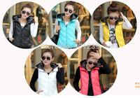 New women winter coat Polka Dot hooded Down cotton jacket