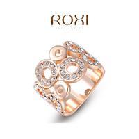 ROXI Christmas Gift Classic Genuine Austrian Crystals Fashion Kiss Fish Ring 100% Man-made Big OFF Christmas