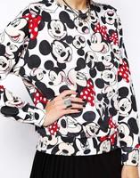 Europe & America New Style Woman Hoodies Fashion Ethos Slender Female Hoodies Mickey Print Lady Sweatshirts YS94898