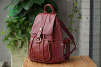 Cowhide leather school bags shoulder bag 2014 new wave of retro style lady backpack School