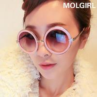 2014 Fashionable round metal edging female star models retro sunglasses sunglasses glasses decorative arrow