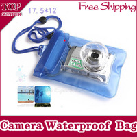 Free Shipping 10pcs Digital Camera Waterproof PVC Case For Canon/Nikon/Sony/OLYMPUS Underwater dry bag pouch Support Wholesale