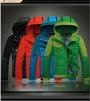 Winter Hooded men's clothes 90% white duck down jacket coat,college mens outdoor sports basketball coats & jackets,free shipping