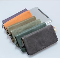 Genuine leather the first layer of cowhide Women wallet long bag day clutch bag genuine leather zipper Women Purse