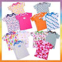 [Baby T-shirt] free shipping 5pcs/lot B1010 Summer new cotton baby T-shirt with short sleeves Cartoon child round collar T-shirt