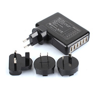 Free shipping 6 port usb charger Universal USB Wall Charger AC Mobile Phone Charger For home travel With US EU UK AU Plug