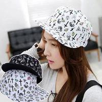 Retail 2014 New Fashion Women & Men Korean Brief Cross Printing Snapback Baseball Caps,Male Hip-Hop Hats,Free Shipping cm048