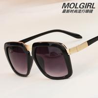 F15 2013 the influx of people retro sunglasses fashion sunglasses Men star models sunglasses big black box drivers