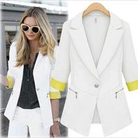 Europe women 2014 Hitz fashion slim lady occupation small long sleeved suit jacket