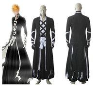 Bleach Ichigo Kurosaki New Bankai Look Cosplay Costume Custom made any size Halloween Gift