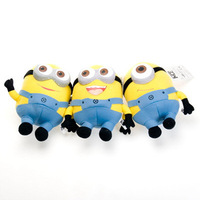 High Quality Cute Despicable Me Plush Toys 18cm/7inch Minions Small Dolls With 3D Eyes Birthday Gift Dave Stuart Stewart