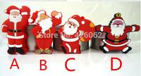 Hot sale Father Christmas usb flash drive 32g 64g u disk Pen Drive memory flash/ gift  USB 2.0 cartoon present