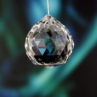 FREE SHIPPING, AAA Quality Guaranteed, 40mm K9 Clear Crystal Faceted Ball for Christmas tree decoration