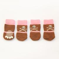 Armi store 81007 Skull Dog Sock Pet Dogs Clothes Winter Latex Skid-Proof Socks S Size
