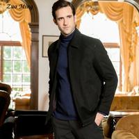 [Original design ]Autumn men's clothes Thick fur collar lapel man youth cashmere 68599 clothes 2 Color Size: M - XXXL